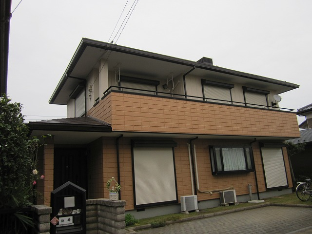 外壁の塗装工事 埼玉県川越市のD様邸