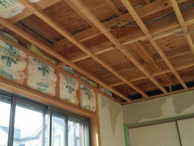 和室の天井の雨漏り