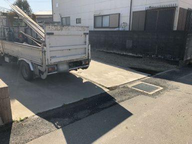 駐車場の土間コンクリート工事