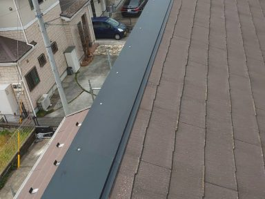 鉄部のカバー工法で補修完了