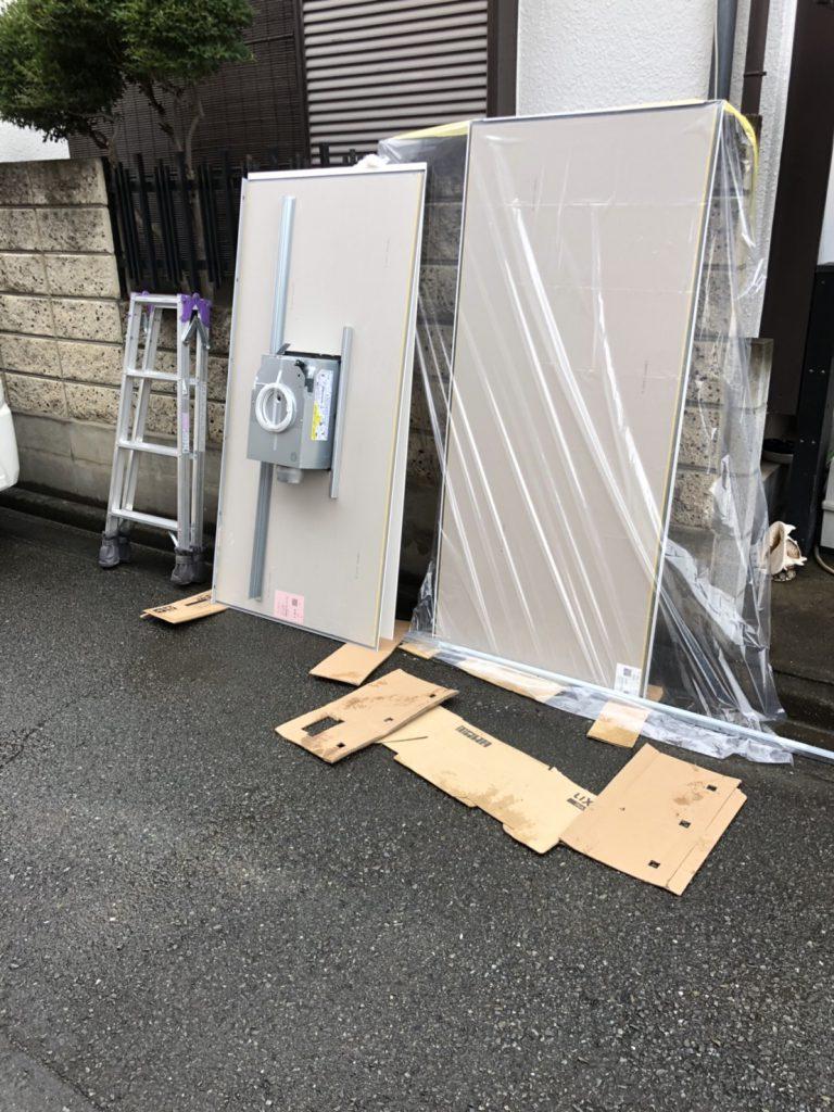 埼玉県川越市のW様邸にてユニットバスの組み立て工事
