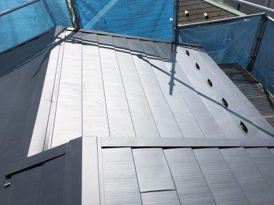金属屋根の葺き替え工事後