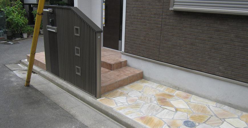 外構リフォーム工事(天然石の乱貼り)|東京都足立区のA様邸
