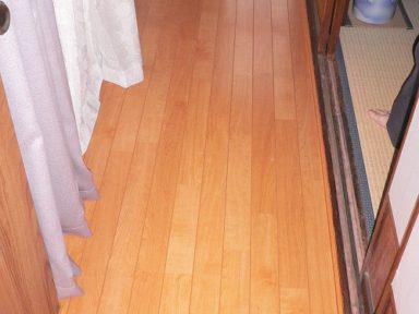 縁側部分の床の張り替え