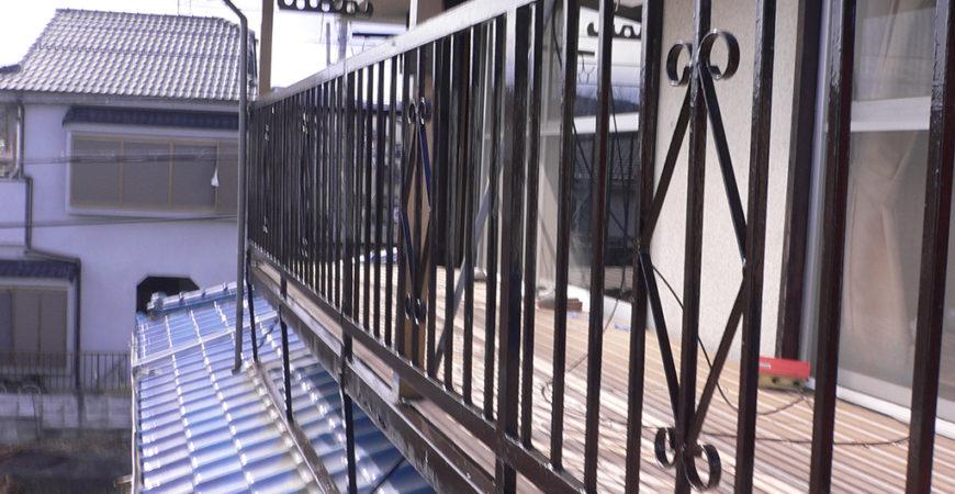 鉄部の塗装工事|埼玉県入間市毛呂山のI様邸