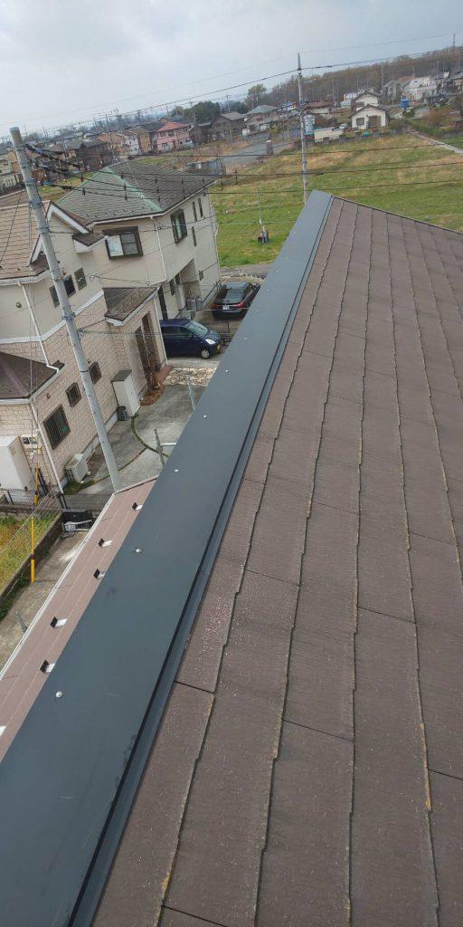 屋根鉄部の補修工事(カバー工法)|川越市鯨井のM様邸にて雨漏り修理