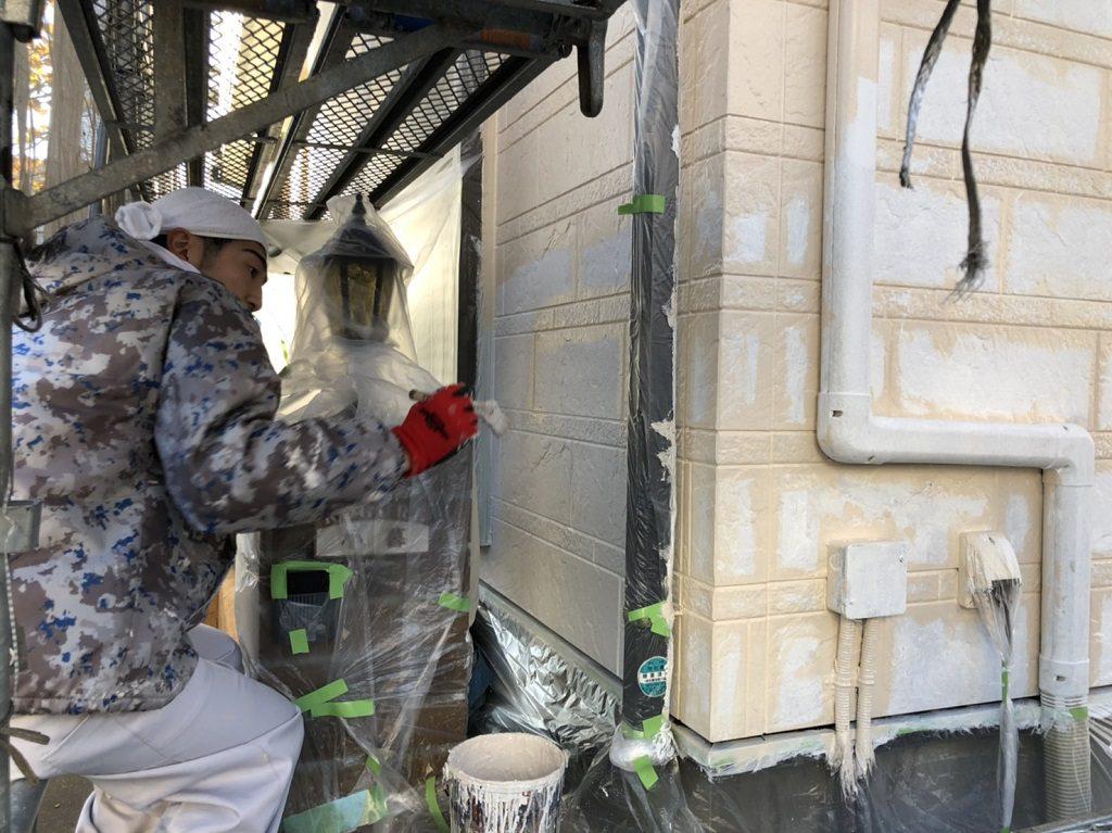 外壁の塗り替えと屋根の葺き替え工事|埼玉県川越市笠幡のK様邸にてリフォーム中