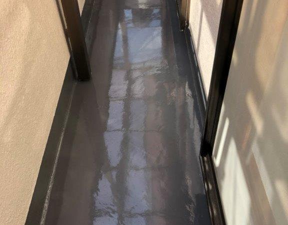 ベランダのウレタン防水工事(カバー工法)|埼玉県川越市のY様邸にて防水工事